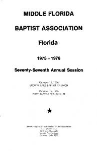 MIDDLE FLORIDA BAPTIST ASSOCIATION. Florida