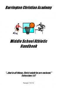 Middle School Athletic Handbook