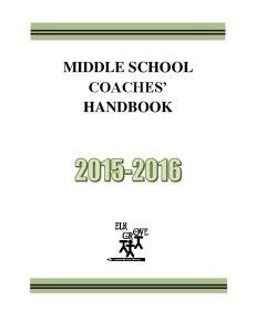 MIDDLE SCHOOL COACHES HANDBOOK