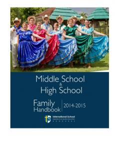 MIDDLE SCHOOL & HIGH SCHOOL FAMILY HANDBOOK