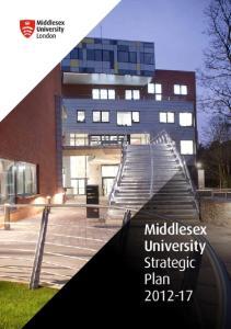 Middlesex University Strategic Plan