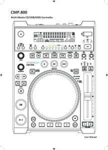 MIDI Controller. User Manual
