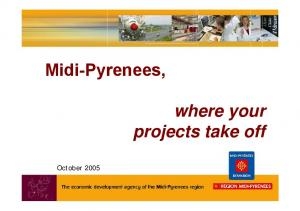 Midi-Pyrenees, where your projects take off