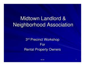 Midtown Landlord & Neighborhood Association