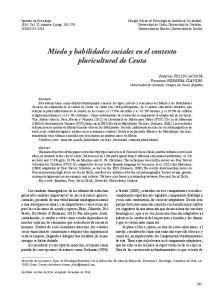 Miedo y habilidades sociales en el contexto pluricultural de Ceuta