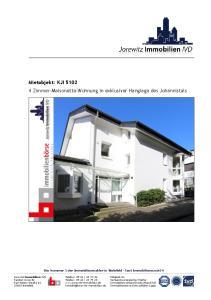 Mietobjekt: KJI Zimmer-Maisonette-Wohnung in exklusiver Hanglage des Johannistals