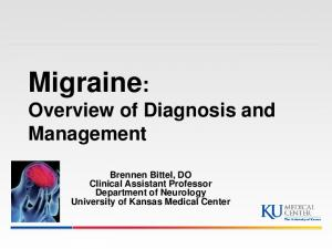 Migraine: Overview of Diagnosis and Management