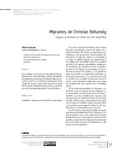 Migrantes, de Christian Boltansky