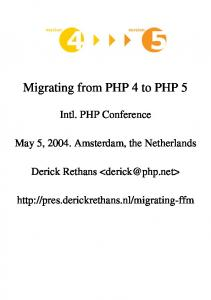 Migrating from PHP 4 to PHP 5
