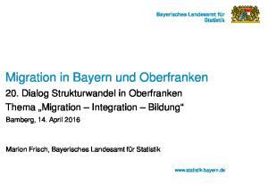 Migration in Bayern und Oberfranken