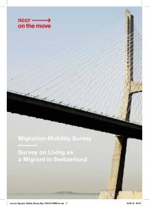 Migration-Mobility Survey Survey on Living as a Migrant in Switzerland