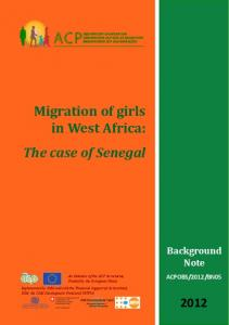 Migration of girls in West Africa: The case of Senegal