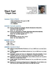 Miguel Angel Yangari Sosa
