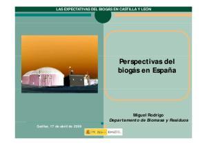 Miguel Rodrigo Departamento de Biomasa y Residuos