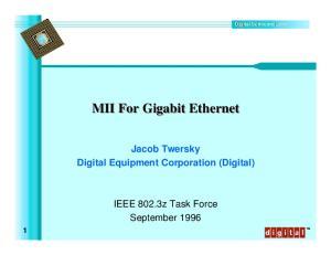 MII For Gigabit Ethernet