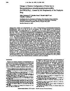 Mikio Nakamura,*,1a Takahisa Ikeue, 1a Hiroshi Fujii,*,1b and Tetsuhiko Yoshimura 1b J. Am. Chem. Soc. 1997, 119,
