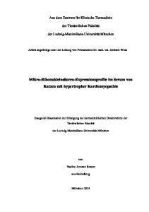 Mikro-Ribonukleinsäuren-Expressionsprofile im Serum von Katzen mit hypertropher Kardiomyopathie