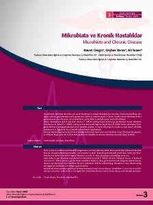 Mikrobiata ve Kronik Hastalıklar