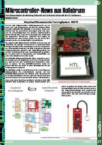 Mikrocontroller-News aus Hollabrunn Drei Diplomarbeiten der Abteilung Elektronik und Technische Informatik der HTL Hollabrunn