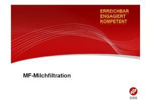 Mikrofiltration von Milch - Vorteile