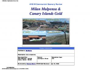 Milan Malpensa & Canary Islands Gold