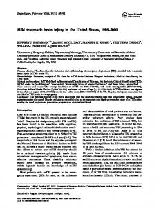 Mild traumatic brain injury in the United States,