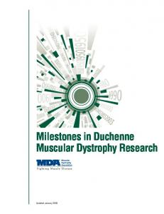 Milestones in Duchenne Muscular Dystrophy Research