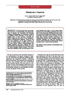 Milestones in Dystonia
