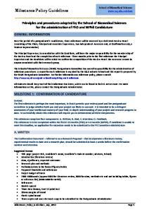 Milestones Policy Guidelines