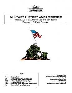 Military History and Records: