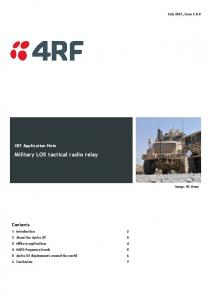 Military LOS tactical radio relay
