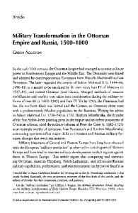 Military Transformation in the Ottoman Empire and Russia,
