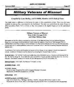 Military Veterans of Missouri