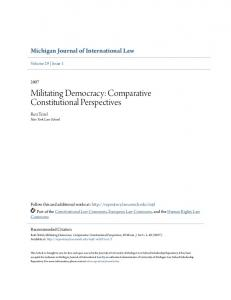 Militating Democracy: Comparative Constitutional Perspectives