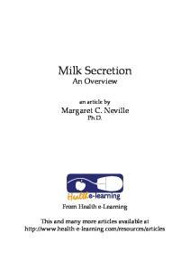 Milk Secretion An Overview