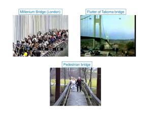 Millenium Bridge (London) Flutter of Takoma bridge Pedestrian bridge