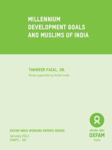 Millennium Development Goals and Muslims of India
