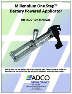 Millennium One Step Battery Powered Applicator