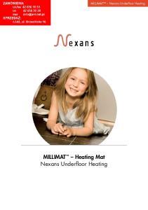 MILLIMAT Heating Mat Nexans Underfloor Heating. MILLIMAT Nexans Underfloor Heating