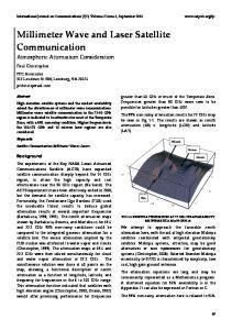 Millimeter Wave and Laser Satellite Communication