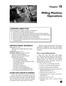 Milling Machine Operations