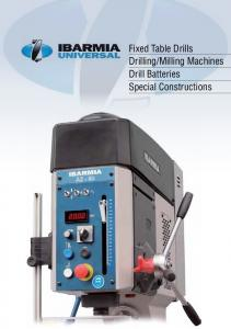 Milling Machines Drill Batteries Special Constructions