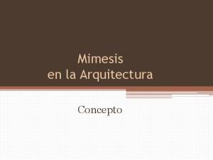 Mimesis en la Arquitectura. Concepto