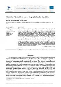 Mind Maps in the Metaphors of Geography Teacher Candidates