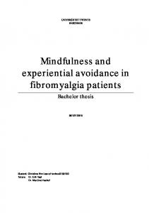 Mindfulness and experiential avoidance in fibromyalgia patients