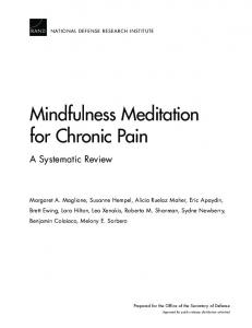 Mindfulness Meditation for Chronic Pain