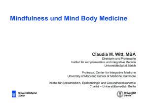 Mindfulness und Mind Body Medicine