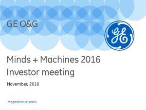 Minds + Machines 2016 Investor meeting