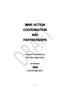 MINE ACTION COORDINATION AND PARTNERSHIPS