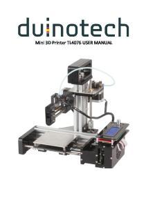 Mini 3D Printer TL4076 USER MANUAL